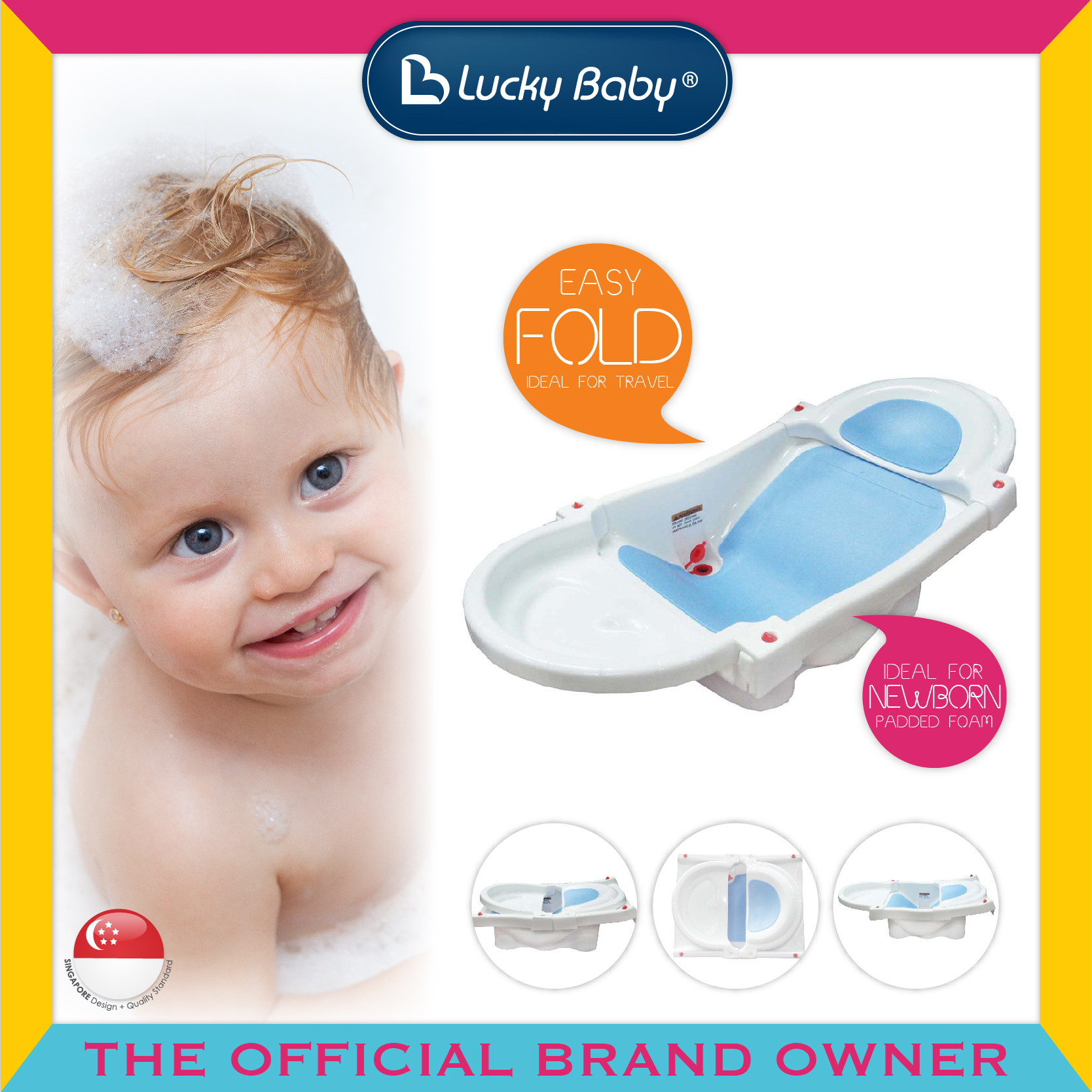 Lucky Baby® Dip In Fold Up™ Bath Tub