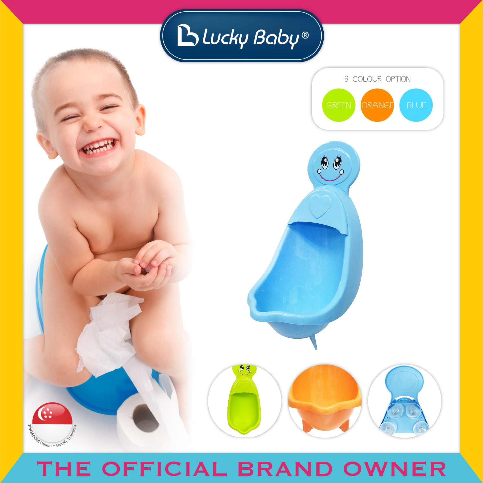 Lucky Baby® Take A Pee™ Boy Urinal (3 Colour Op