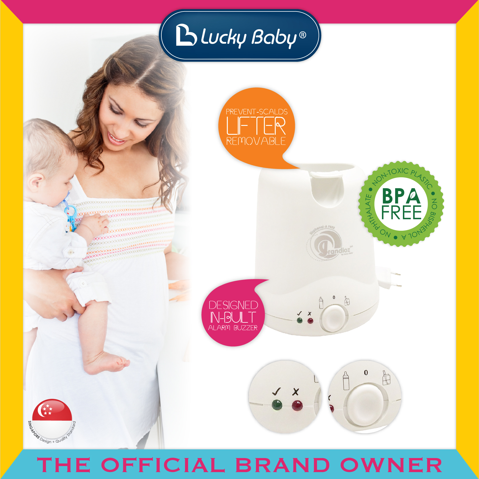 Lucky Baby® Grandioz™ Baby Food And Bottle Warm