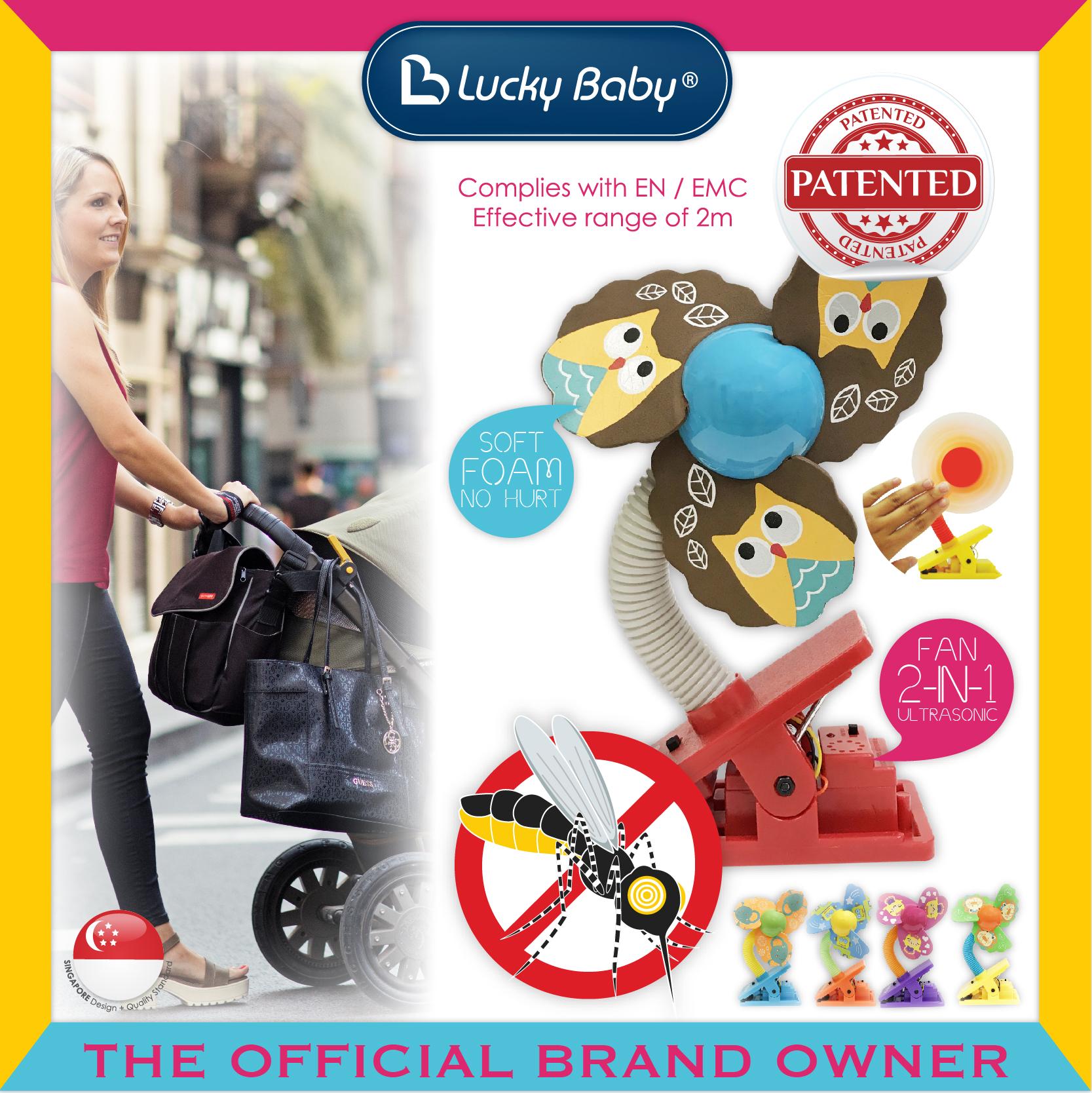 Lucky Baby® Mini™ Safety Clip on Fan W/Ultrason