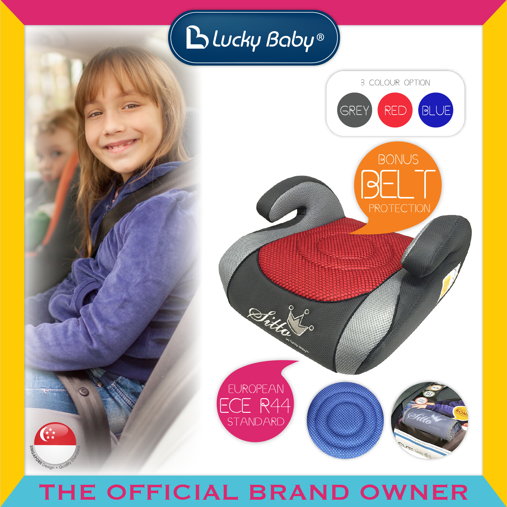 Lucky Baby® Sitto™ Safety Booster Seat - Red