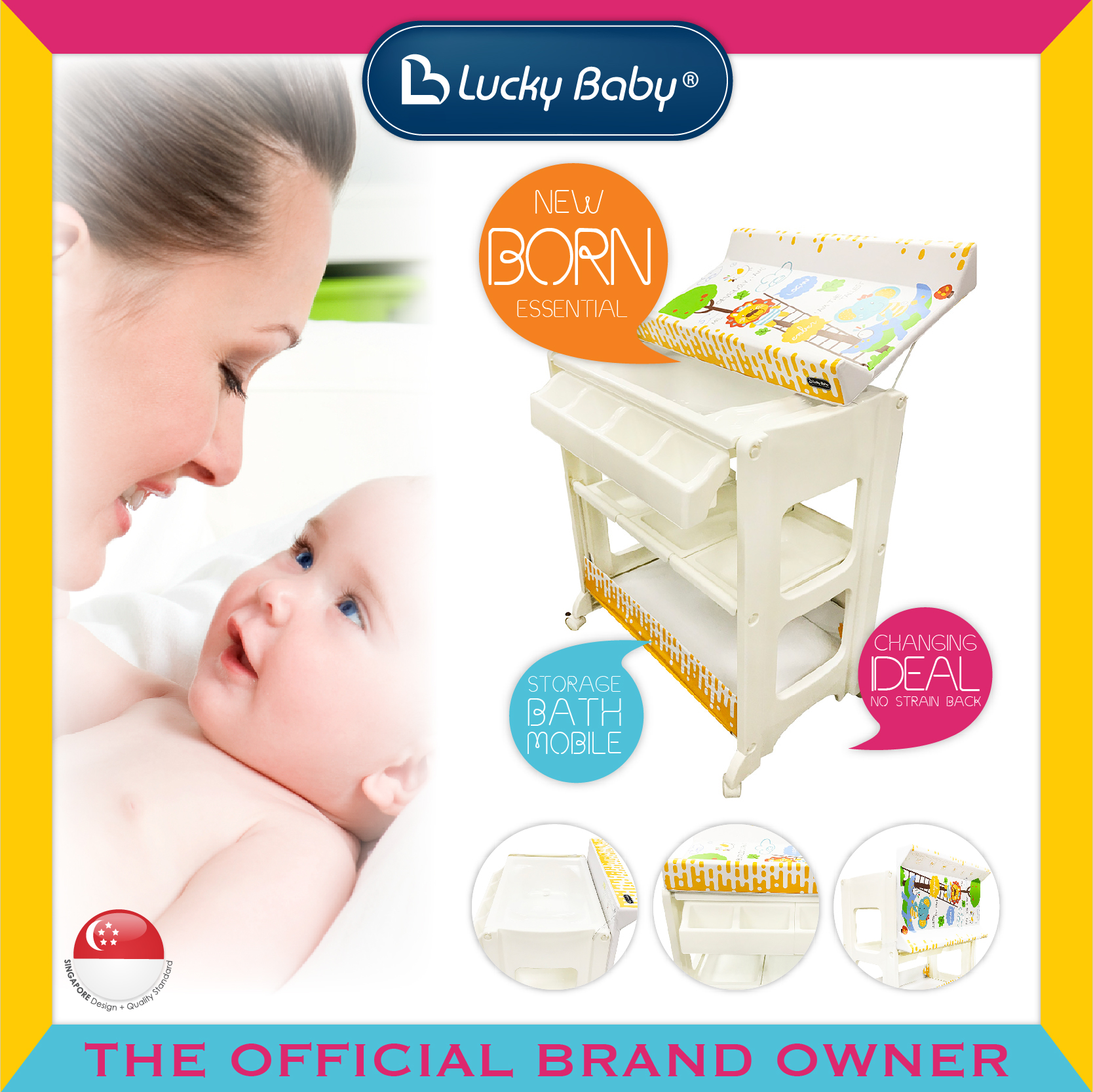Lucky Baby® Besto™ Bath Unit - Ember/Logan