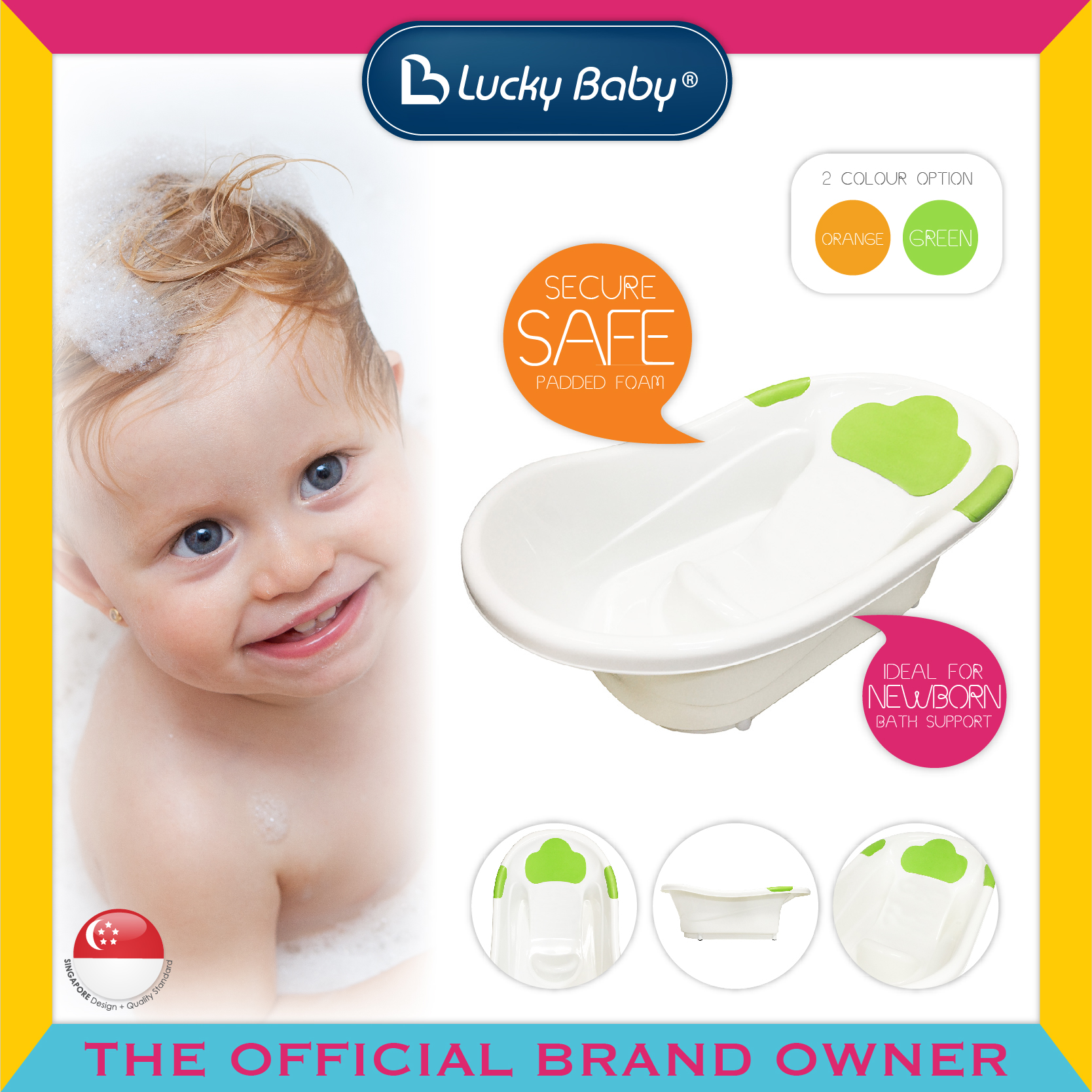 Lucky Baby® Take a Dip™ Bath Tub (2 Colour Opti