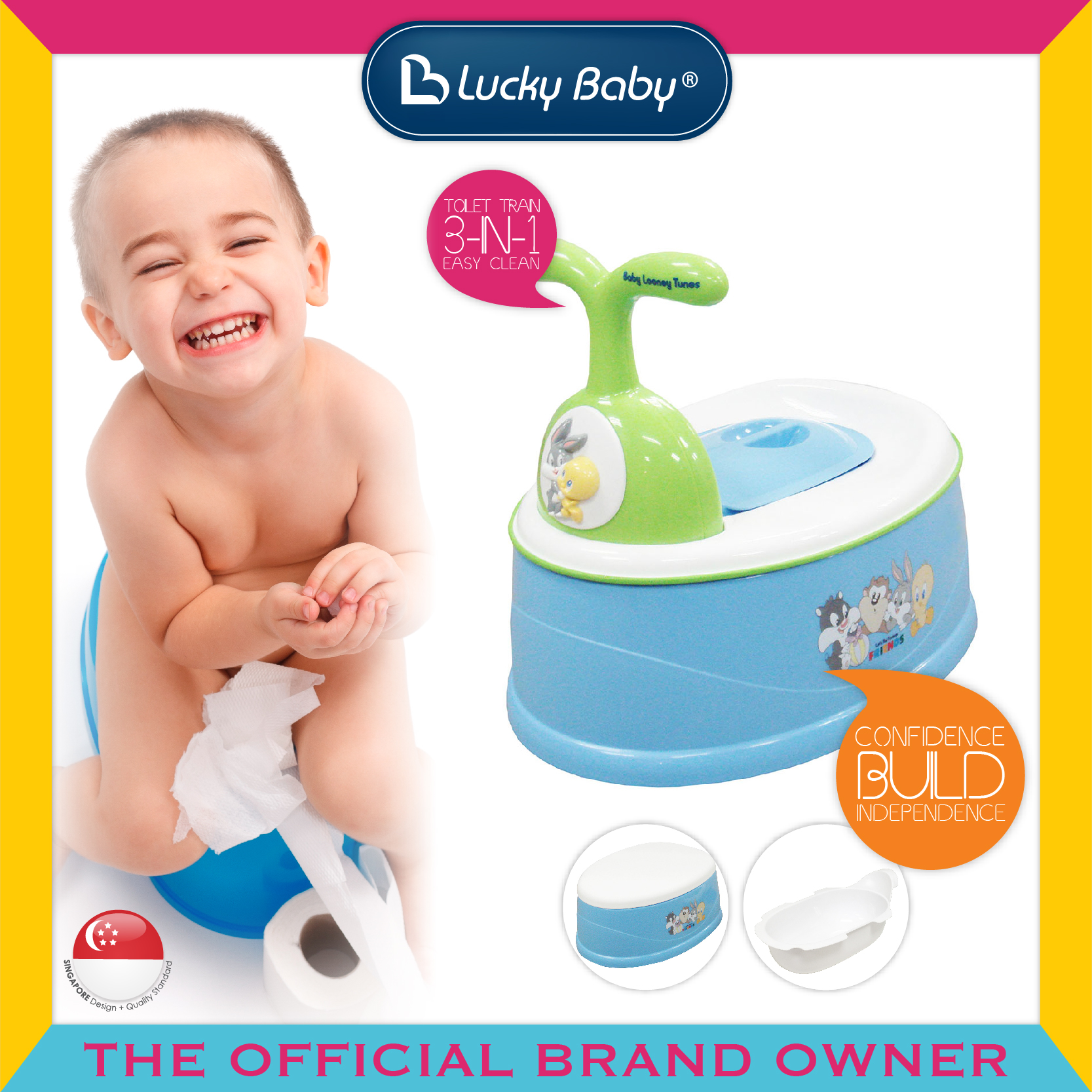 Lucky Baby® 3 In 1 Potty - Baby Looney Tunes
