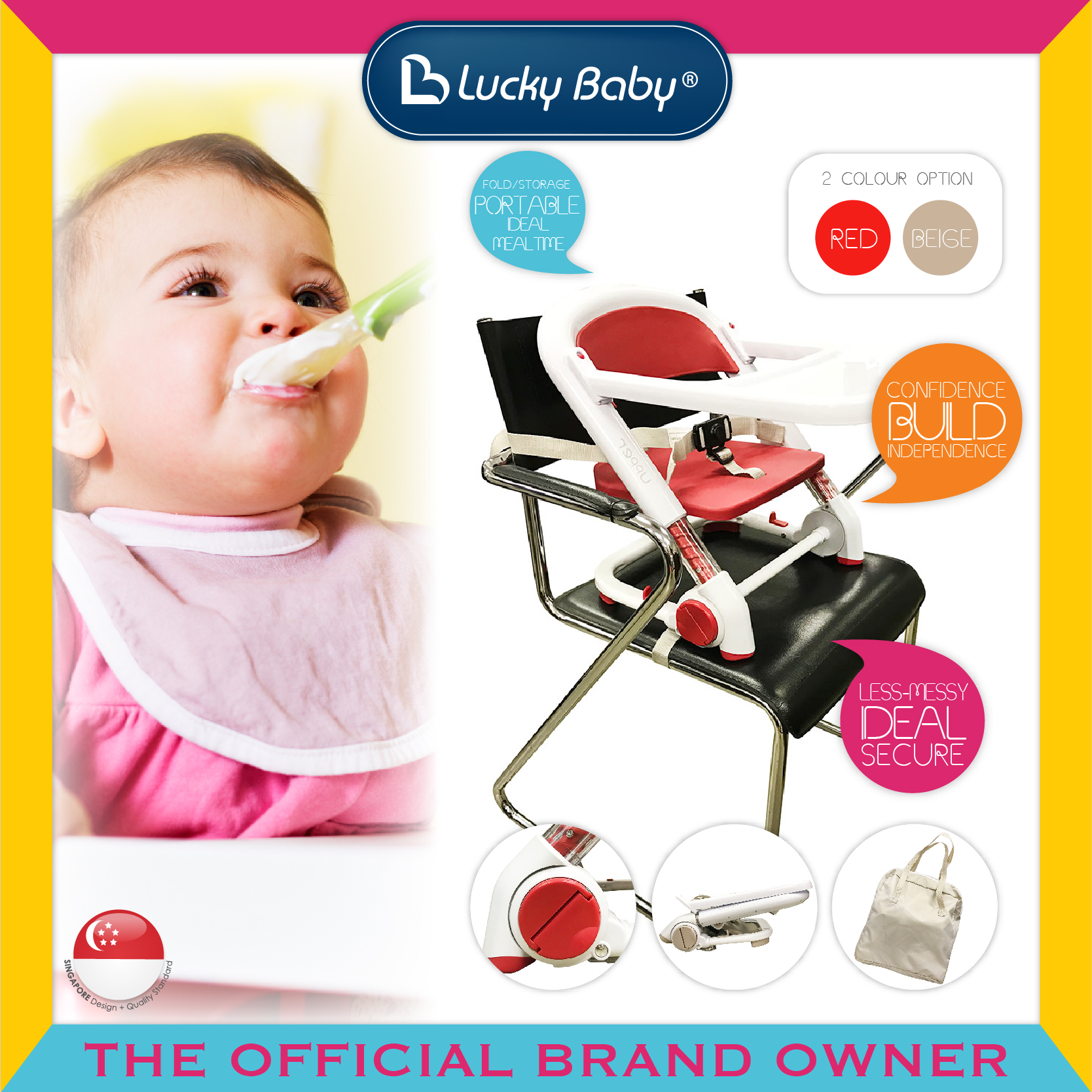 Lucky Baby® Upper™ Booster Seat - Red