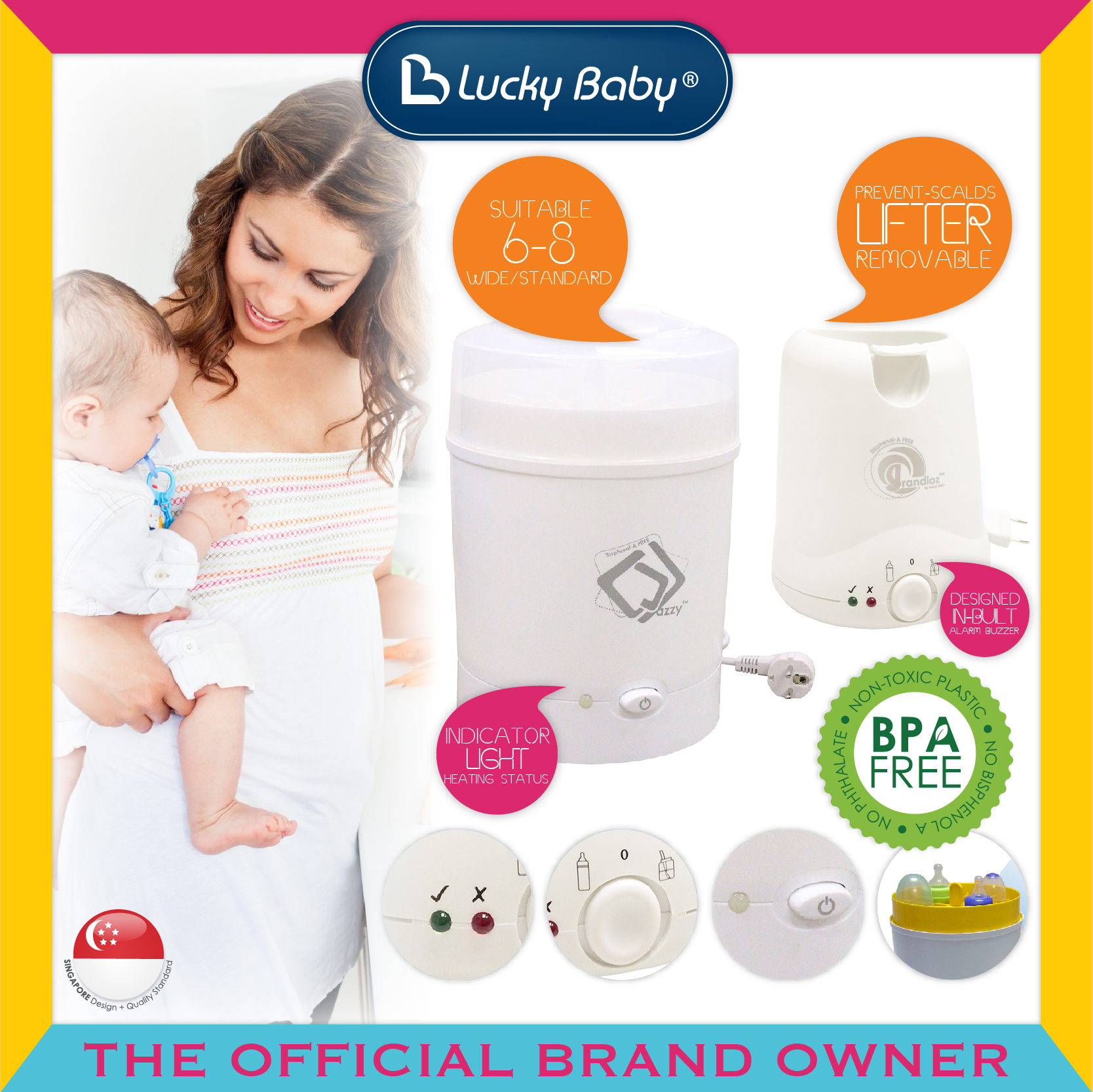[BUNDLE DEAL] Lucky Baby® Jazzy™ 8 Bottles Stea