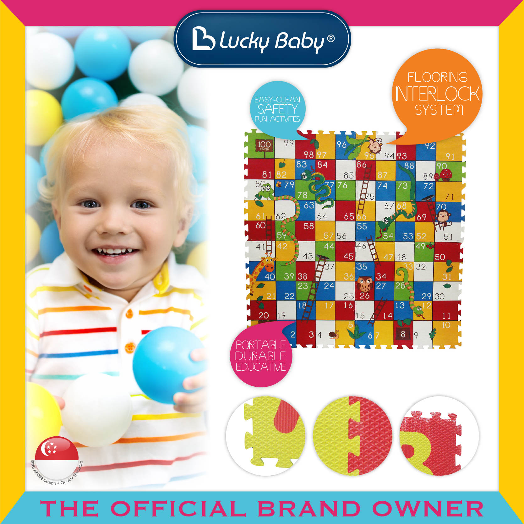 Lucky Baby® Board Game™ - Snake & Ladder