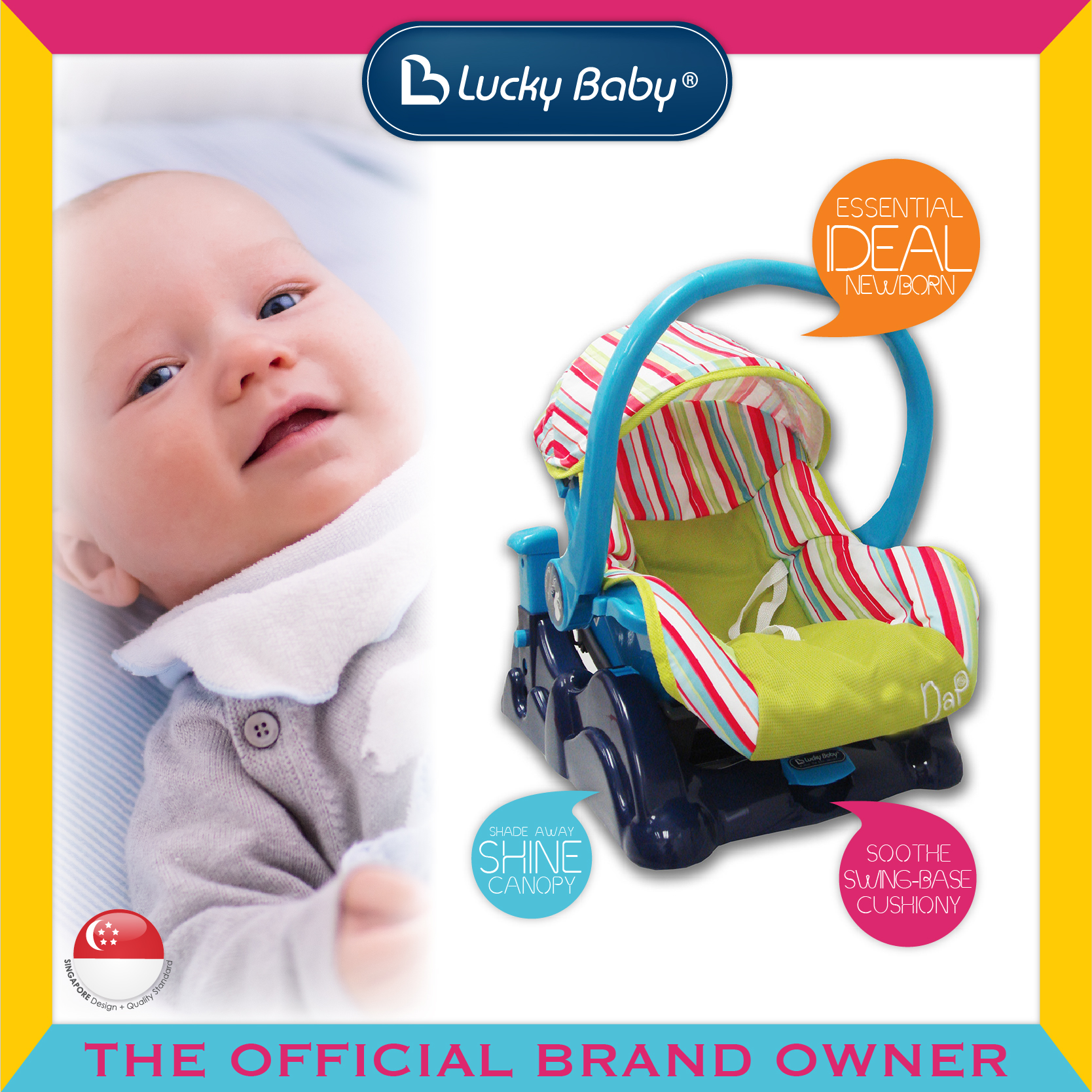 Lucky Baby® Nap™ Baby Carrier W/Swing Base