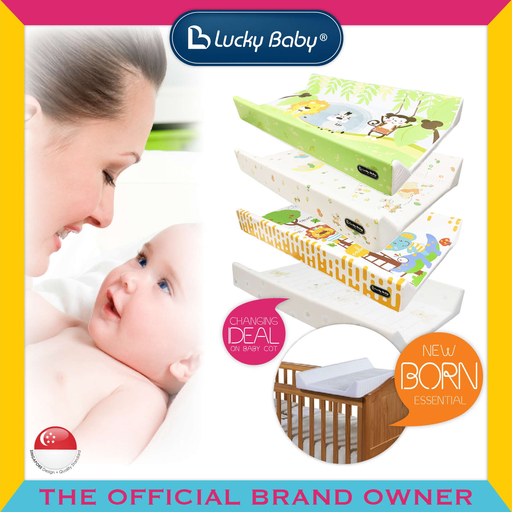 Lucky Baby® Changer W/Wooden Base - Specially for