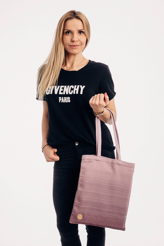 LennyLamb Shopping Bag - Little Herringbone Ombre
