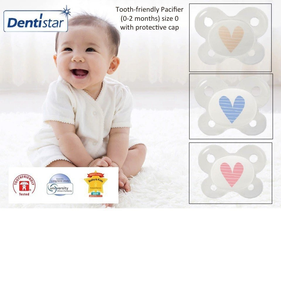 Dentistar Tooth-friendly Pacifier (0-2 months) Siz