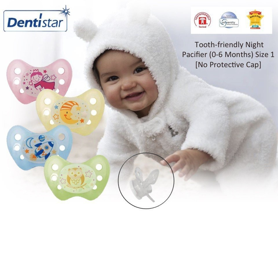 Dentistar Tooth-friendly Night Pacifier (0-6 month