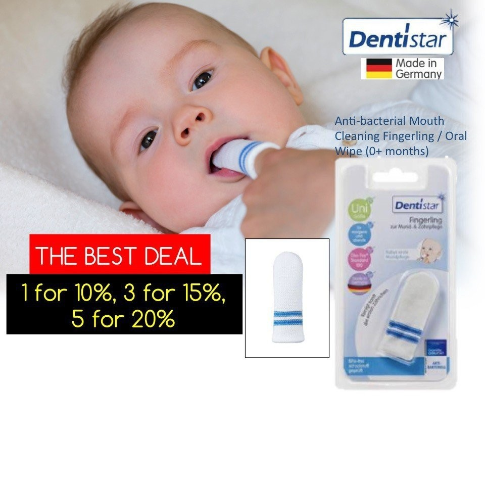 Dentistar Anti-bacterial Mouth Cleaning Fingerling
