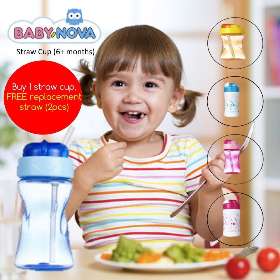 Baby Nova Straw Cup 300ml (6+ months) [3 colours a