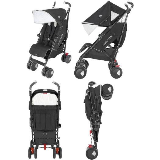 Maclaren Techno XT Stroller (Black) + FREE  Seat L