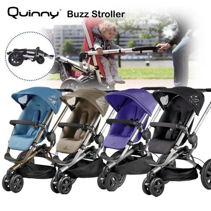 Quinny Buzz Stroller 3 wheels (Carrycot adaptors i