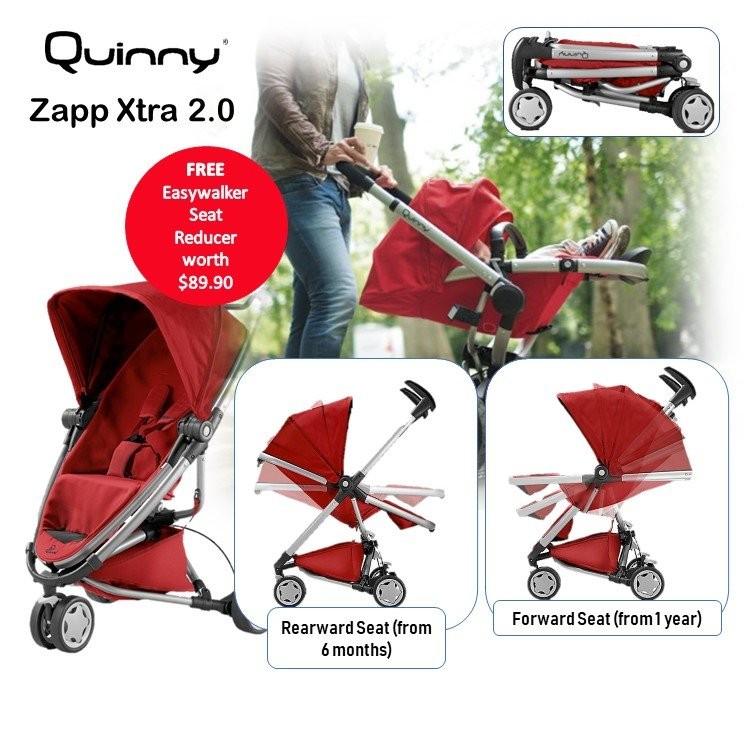 Quinny ZAPP XTRA 2.0 Stroller (Red Rumour) + maxi