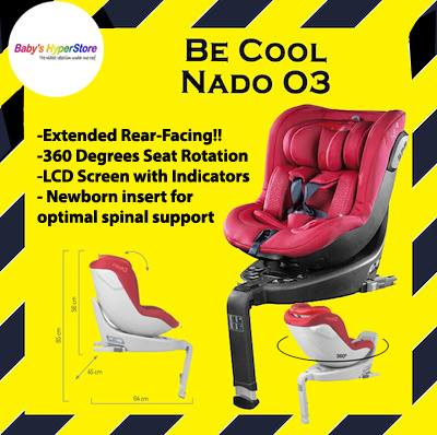 Be Cool Nado 03 Car seat (RED) +  FREE CAR SEAT PR