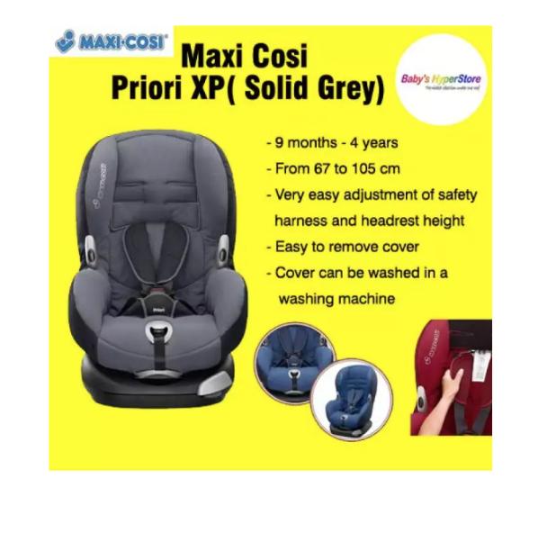 Maxi Cosi Priori XP Car Seat  - Solid Grey -( EXPO