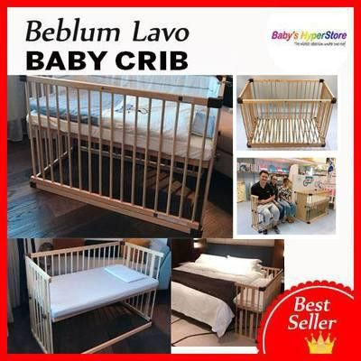 Beblum Lavo 1 Co-Sleeper Bed + 2' Natural Latex Co