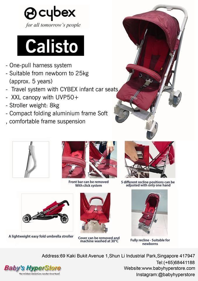 Cybex Calisto ★ 7 days easy return ★ LOCAL sel