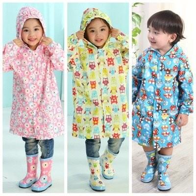 Prime Prod Kids Fashion Rain Coat (Owl Car Woodpec