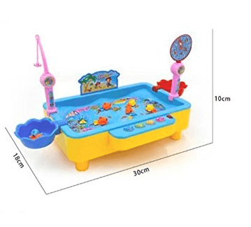 Kids Magnetic Fishing Game Kit with Music and Lear