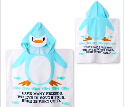 Kids Fashion Bathrobe Beach Towel