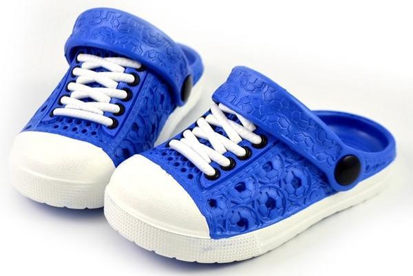 T091 Eva Slip-Ons Blue (Size 20)