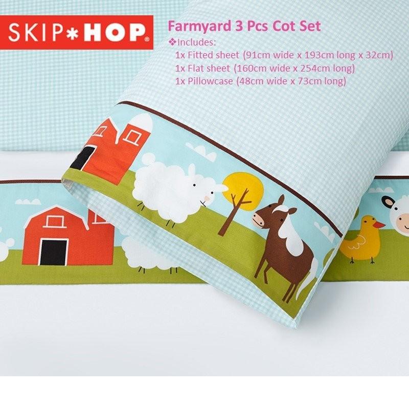 Skip Hop Farmyard 3 Piece Bedding Set