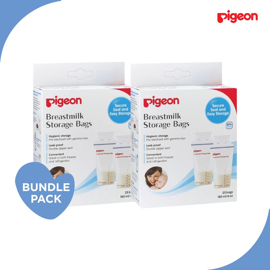 Pigeon Breastmilk Storage Bags (25 Bags) x 2