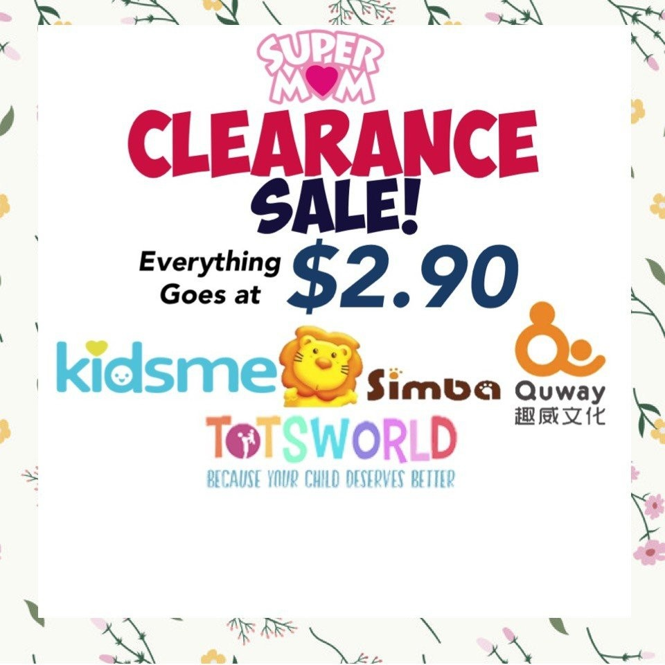 Totsworlds Clearance Sale! Everything Goes at $2.9