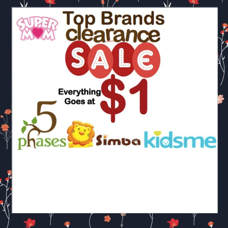 Totsworld Top Brands Clearance Sales! All going fo