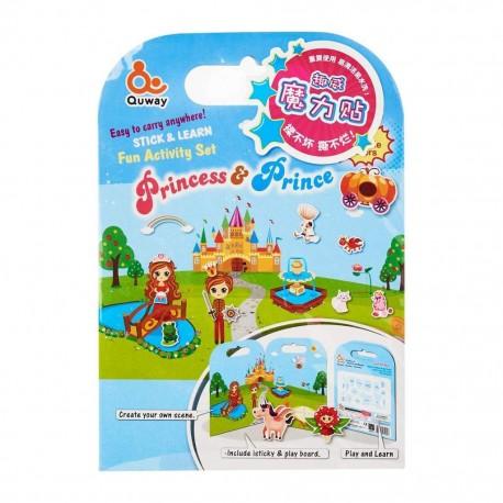 Quway Washable Sticker Prince & Princess