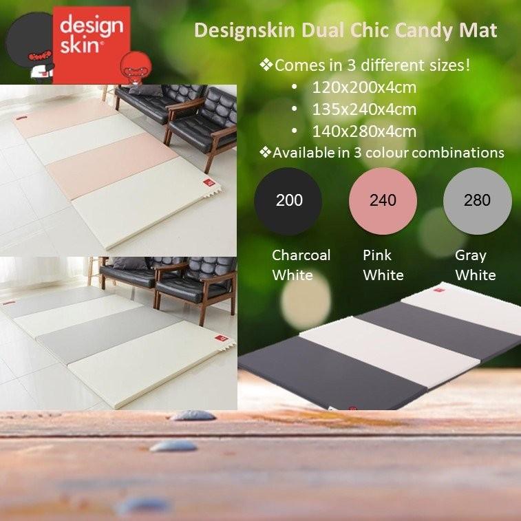 Designskin Dual Chic Candy Mat - Charcoal White [A
