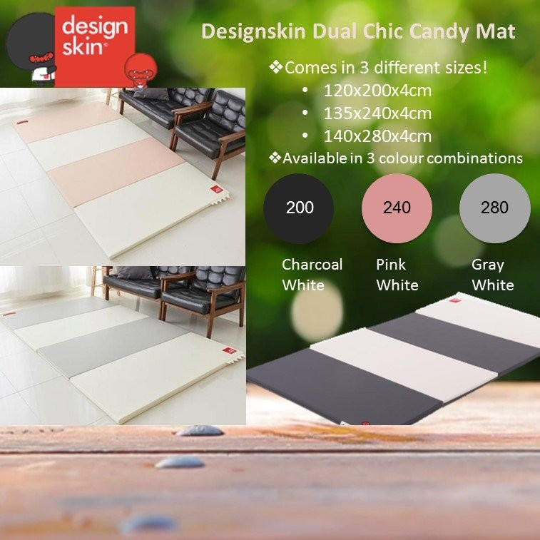 Designskin Dual Chic Candy Mat - Gray White [Avail
