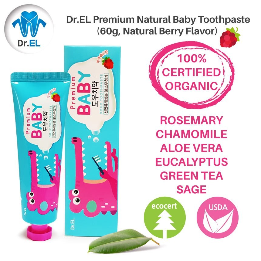 Dr.EL Premium Natural Baby Toothpaste (Korea No. 1