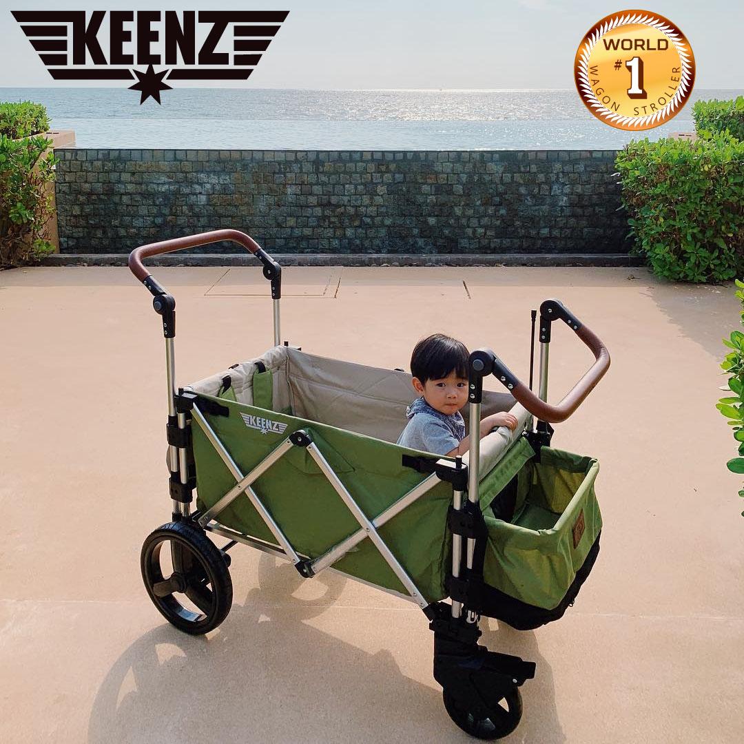 Keenz 7S Premium Deluxe Foldable Wagon-Stroller -