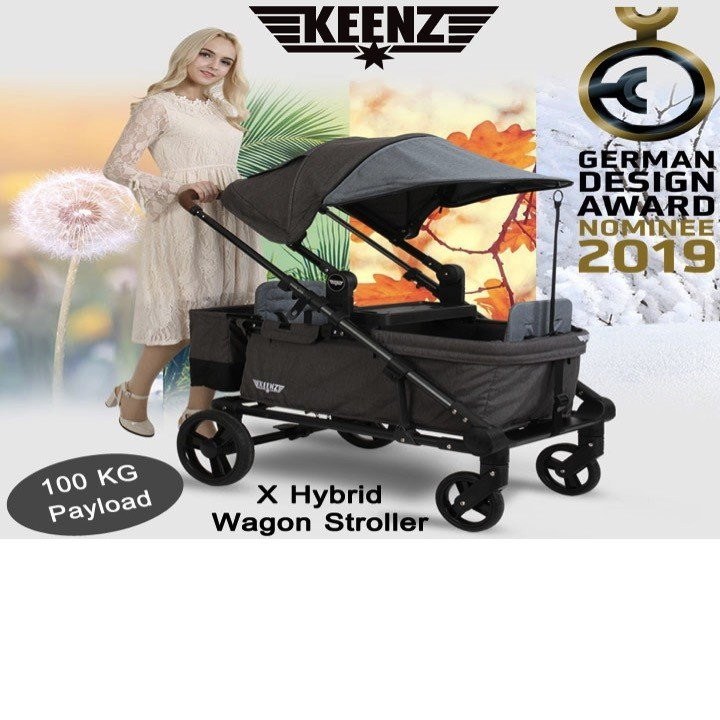 Keenz X Hybrid Wagon Stroller (German Design Award