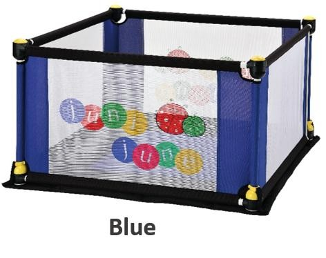 juni june 4 Sided Deluxe Fabric Play Yard with Pla