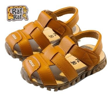 Raf Raf Leather Sandals (1-3 Years) Brown
