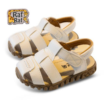 Raf Raf Leather Sandals (1-3 Years) White