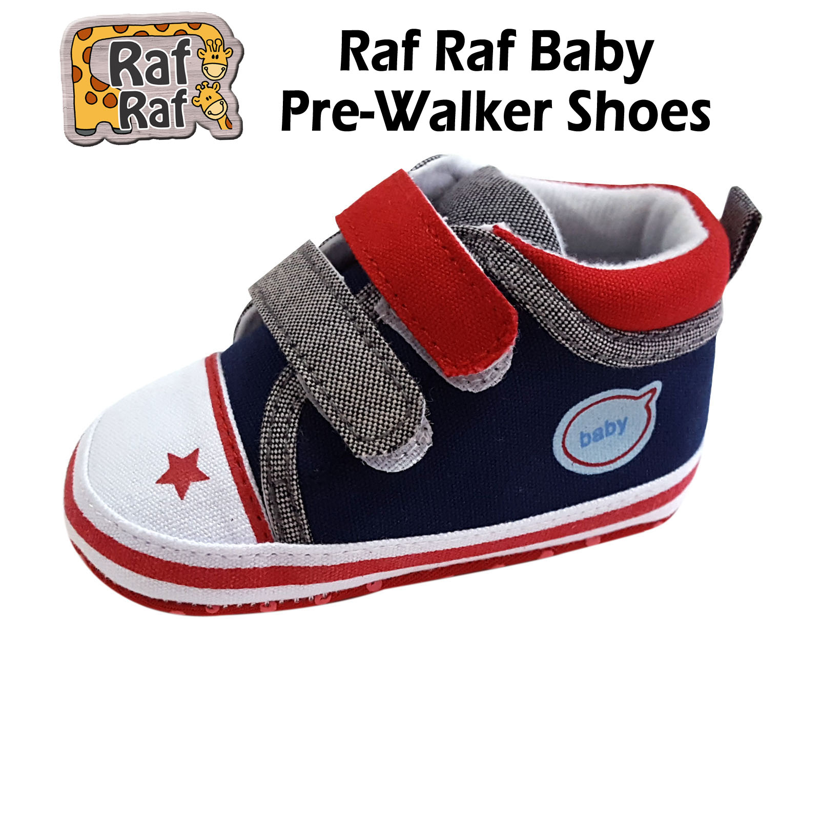 Raf Raf Soft Sole Baby Pre-Walker Shoes - 2 for $2