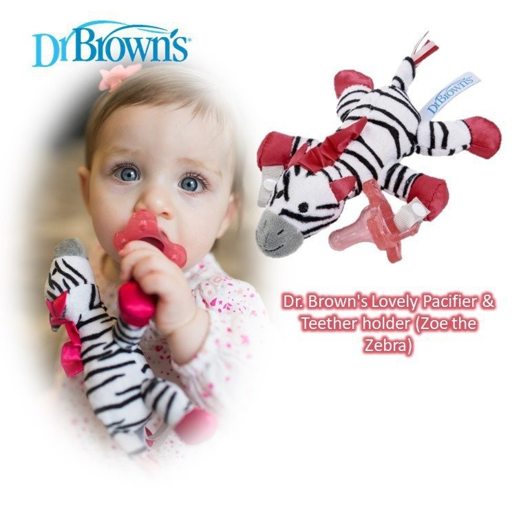 Dr. Brown's Lovely Pacifier & Teether holder (Zoe