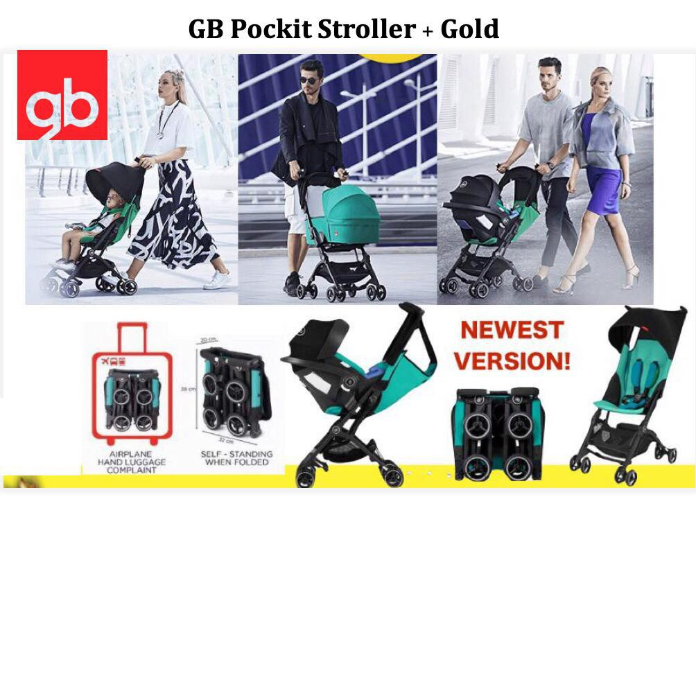 Gb Pockit + Gold Stroller 3-in-1 travel system