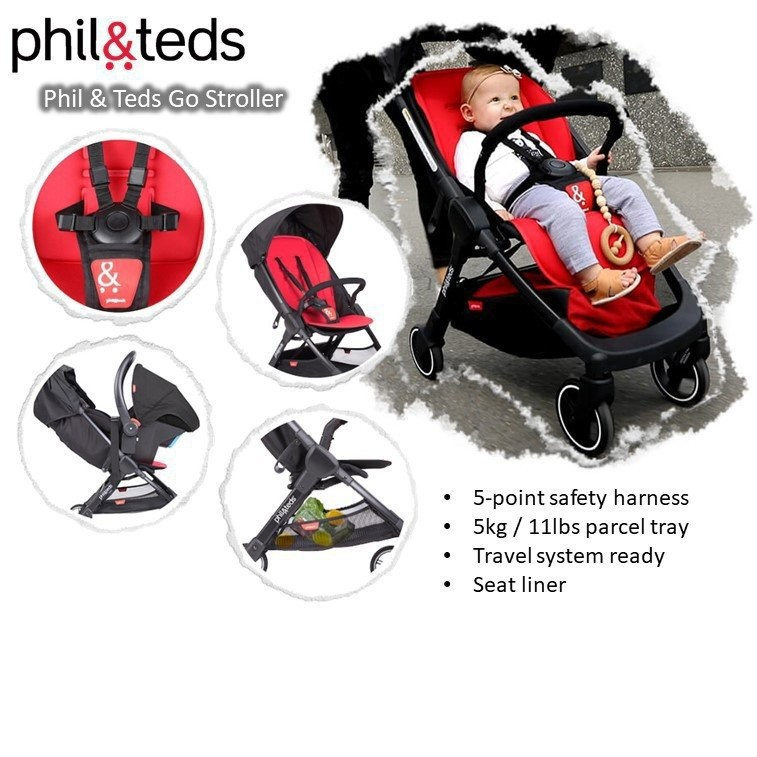 Phil & Teds Go Stroller[Available in 3 colours]