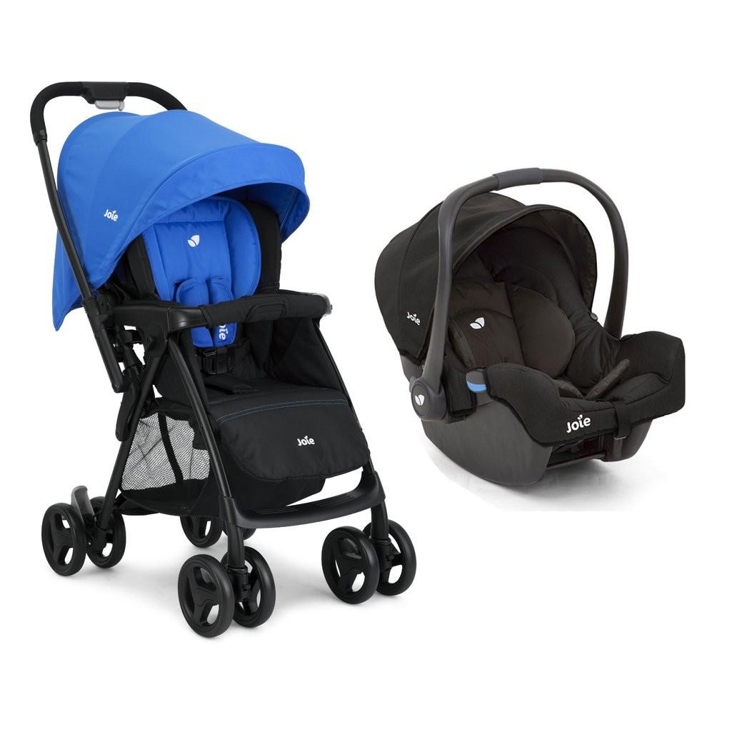 Joie Mirus Stroller (Blue) + Gemm Infant Car Seat