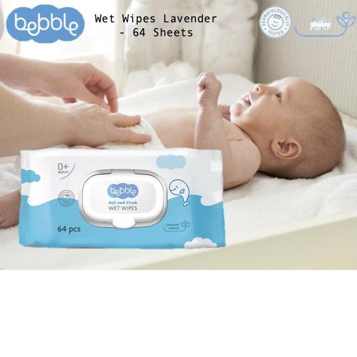 Bebble Wet Wipes Lavender (64 Sheets)