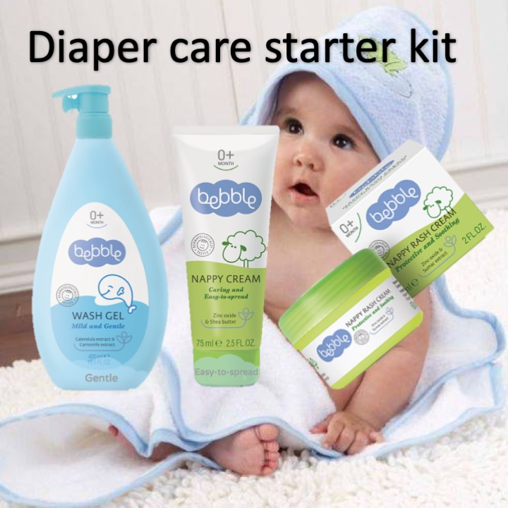 Bebble Diaper Care Kit - Clean, Protect, Relief |