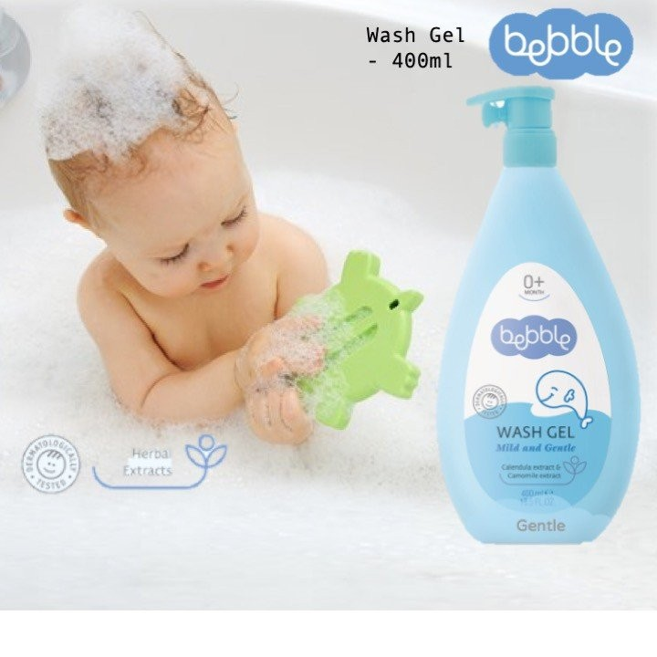 Bebble Wash Gel for Gentle Skin Cleansing (400ml)